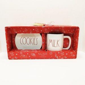"Rae Dunn ""COOKIES"" Plate & ""MILK"" Mug Set"